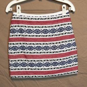 Madewell Embroidery Zip Up Mini Skirt
